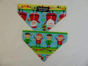 Bandana - Here comes Santa and Elfs