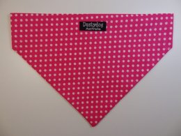 Pink with white Polka Dot Bandanna