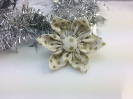 Flower- Large White with gold stars