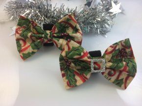 Bow- Holly Bush Red Swirl
