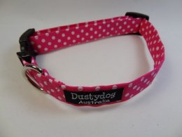 Pink with White Polka Dot Collar