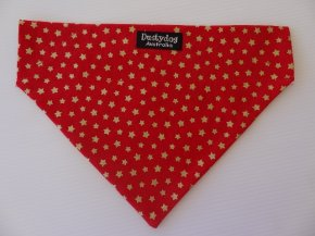 Bandanna- Red with Gold stars