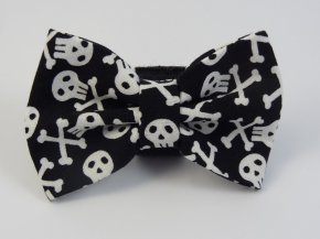 Black Skull & Cross Bone Bow