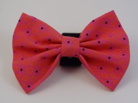 Pink with Black Dots Bow