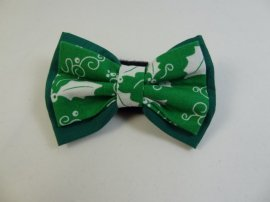 Bow- Green with green holly layered Christmas