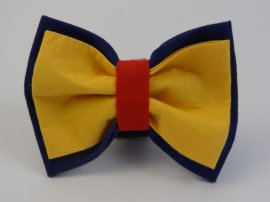 Football- Crows Inspired Bow