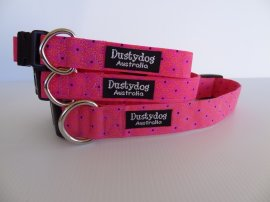 Pink with Black Dots Collar