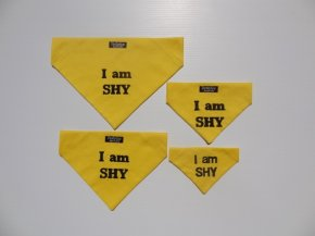 I am SHY; Embroidered Bandanna