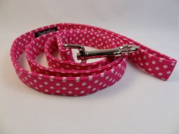 Pink with White Polka Dot Lead