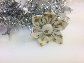 Flower- Small White with gold stars