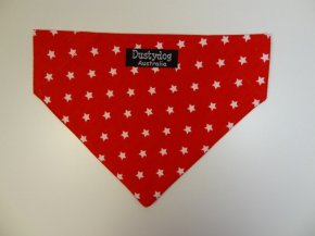 Red with White Stars Bandanna